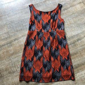 NWT MILLY Lyla Dress chevron feather Aztec